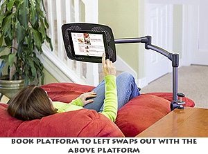 Best Clamp-on Desktop Adjustable Book or Tablet Stand
