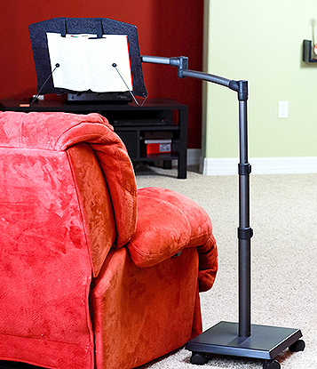 Levo G2 Book Holder and Reading Stand for reading while sitting, r reclining or lying