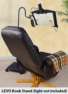 Book holder for reading in chair