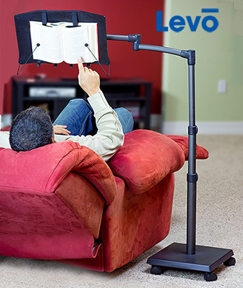 Levo G2 Book Stand Holder for reading while sitting or reclining