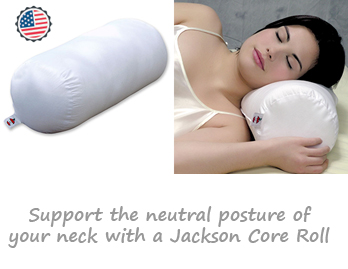 Jackson Core Roll Orthopedic Cervical Neck Pillow
