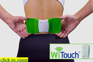 WiTouch Wearable TENS for Lower Back Pain Relief