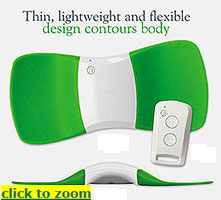 TENS unit for low back with wireless remote control