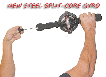 Dynaflex Split Core IronPower Trainer with Stainless Steel Gyro showing startup