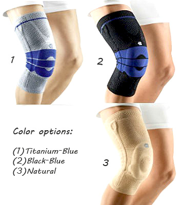 Color choices for Bauerfeind Genutrain Knee Support Brace