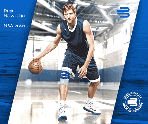 Mavericks Basketball Player Dirk Nowitzki Use Genutrain Knee Supports
