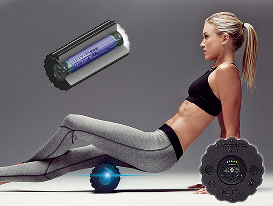 High Tech Vibrational Resonance Massage combined with therapeutic foam roller