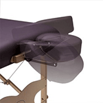 Dual Action Face Rest with Duratouch Crescent Pillow for Custom Craftworks Massage Tables