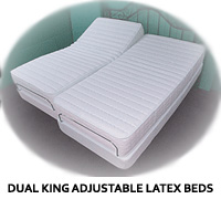 Electropedic Dual King Latex Adjustable Bed