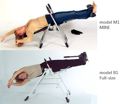 Back-A-Traction Gravity Inversion Tables for use at home or office