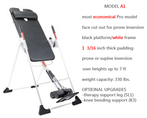 Model A1 is Mastercare's Most Economical Professional Use Inversion Unit