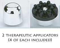 replaceable massage head attachments for Rejuvenator Plus Massager