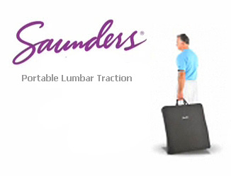 Saunders Portable Lumbar Traction for Home or Travel