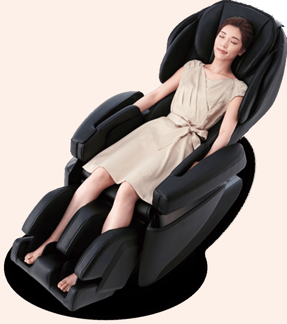 Synca JP1100 Massage Lounger reclined