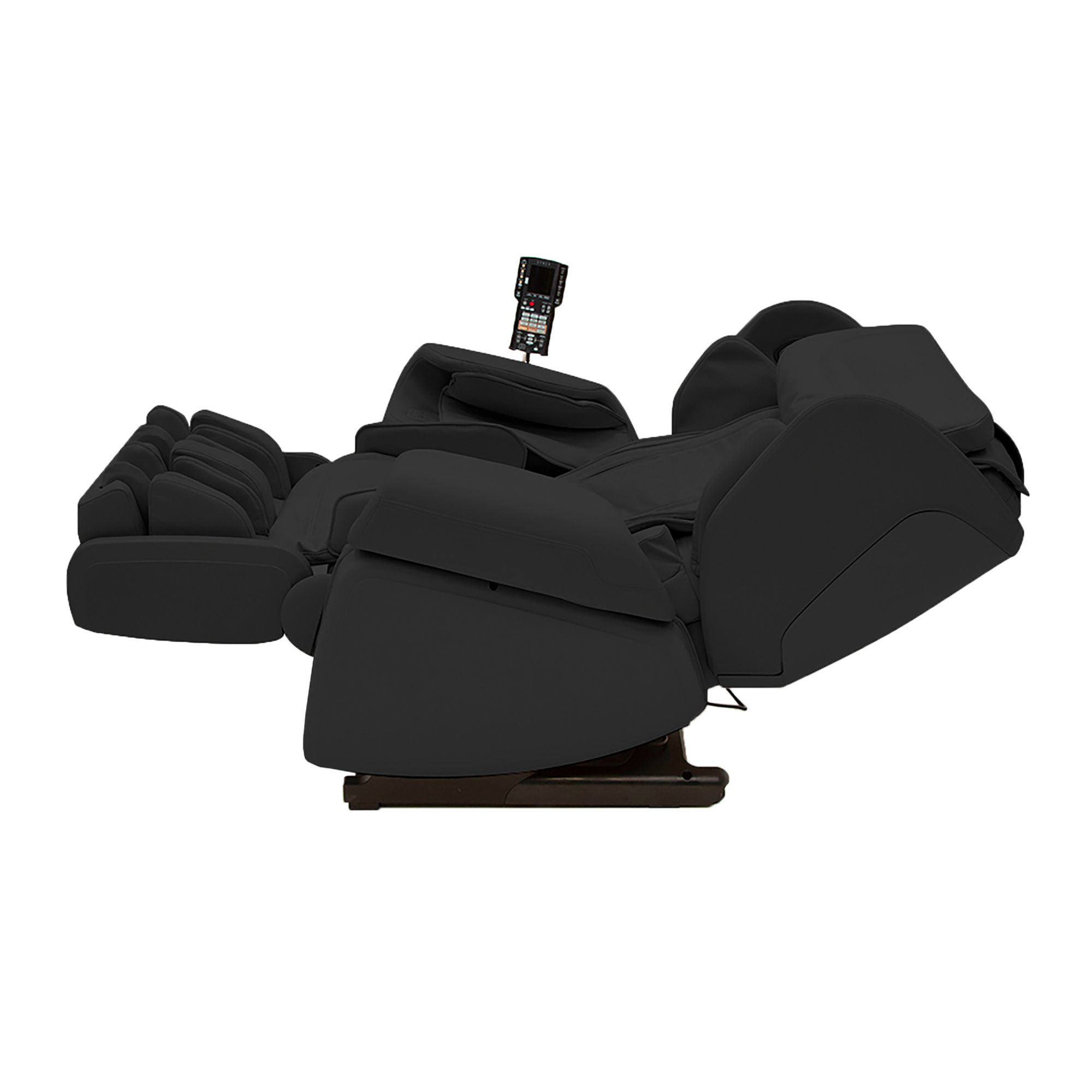 Black Kagra Massage Lounger fully reclined